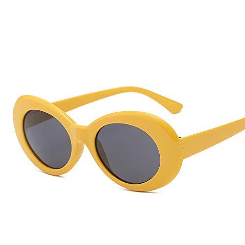 AMINE Sonnenbrille Unisex Korean Fashion Sonnenbrillen Trend Sonnenbrille Visier Spiegel Unisex Sonnenbrille (E)