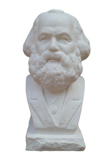 Gipsmanufaktur Büste Karl Marx 18,5 cm weißer Alabastergips