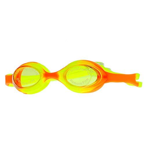 YIWAN Schwimmbrille - für Erwachsene und Kinder,Kinderbrille HD wasserdicht Anti-Fog süß gelb