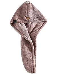 Damas De Microfibra Toalla De Baño De Secado Rápido del Pelo Seco Mujeres Toalla De Baño