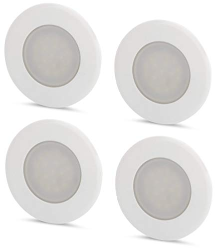 Juego de 4 lámparas LED empotrables (230 V, para caja de interruptores...