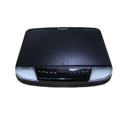 Hahaiyu 15-Zoll-Decke DVD Monitor-1080P Autodach Display, FM/IR-Sender/USB/SD/HDMI / MP5 1920 × 1080 Hohe Auflösung (Schwarz, Grau, Beige),Black
