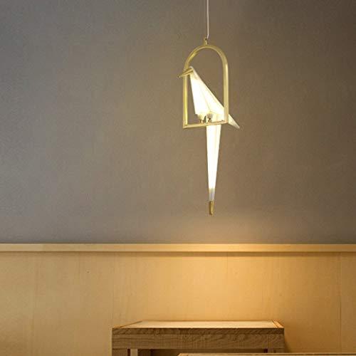 Minimalista moderno Origami Crane Bird Chandelier Personalidad Arte Sala de estar Lámpara Lámpara de techo Dormitorio creativo Restaurante Luces colgantes
