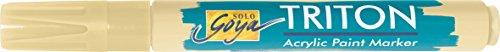 KREUL 17831 (Solo Goya Triton Acrylic Paint Markierstift, 1-4 mm Keilspitze) beige (Akzente Signatur)