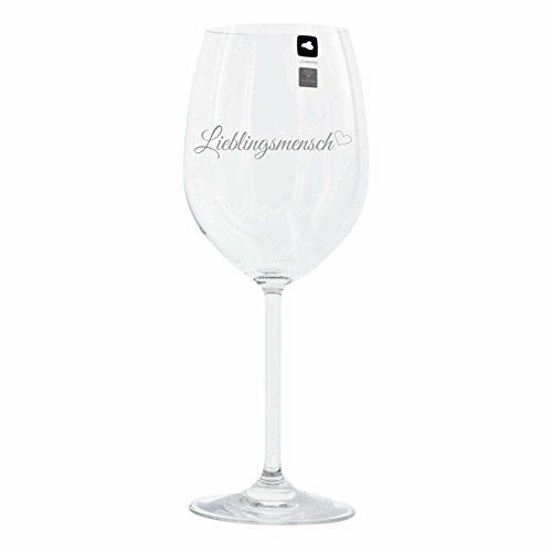 Leonardo Weinglas mit Gravur Motiv 'Lieblingsmensch' Wein-Glas graviert