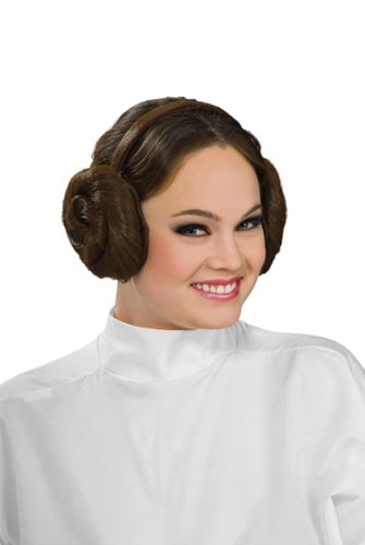 Leia Kopfschmuck Haarreif Haarteil Kostüm Zubehör (Prinzessin Leia Halloween Kostüme Für Erwachsene)