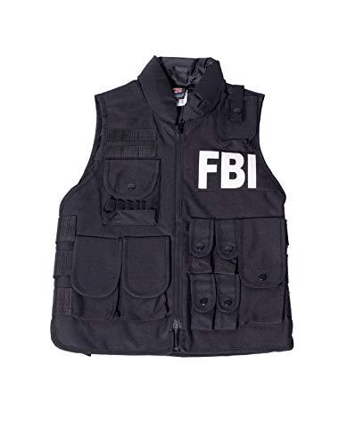 Agent Secret Kostüm Kind - Weste FBI Kinder
