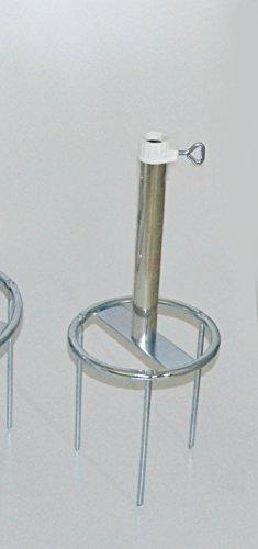 Stabielo à gazon – Brochette sol jusqu'à Ø 25 mm – Le Stabielo® – Bague diamètre 180 mm de diamètre – Avec 80 µ galvanisé – Fixation avec 3 sol Pique Brochettes – Longueur 20 cm – support pour parasol – Holly produits Stabielo® – tänder multi-usage avec sol Anneau de fixation de parasol Bâtons jusqu'à 25 mm Ø – Innovations fabriqué en Allemagne – Holly-Sunshade® – Contenu de bar aussi pour bâton de diamètre jusqu'à 53 mm – Voir ASIN – b00gmm8qtm – Prix aussi longtemps de suffit de conservation
