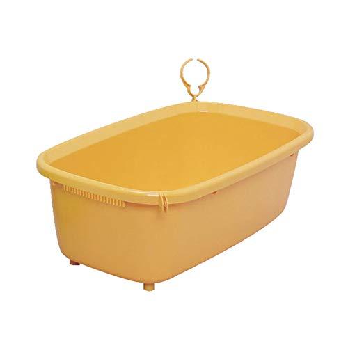 Hundebadewanne, Badewanne Mit Haustierbadewanne Badezubehör Badzubehör Für Mittlere Und Große Hunde Nach Hause Wanne (Farbe : Orange-1)