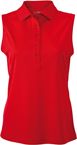 JAMES & NICHOLSON Polo micro polyester Rouge