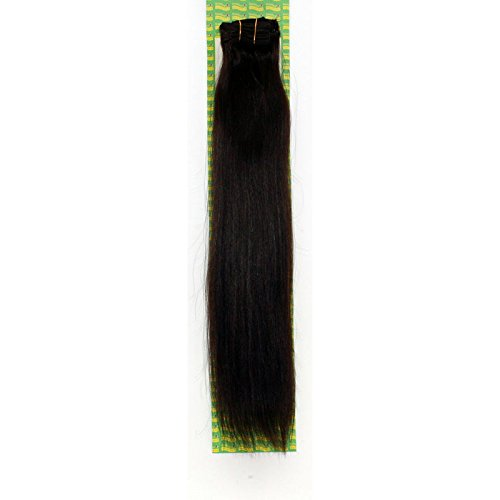 'Dream Hair Extensions à clip Lot de 8 Pièces lisse 22/56 cm Marron foncé extensions de cheveux
