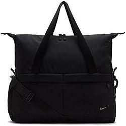 Nike W Nk Legend Club - Solid Bolso bandolera, Mujer, Negro (Black/Black/Black)