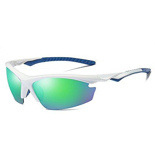 BESTSOON UV-Schutz im klassischen Stil Semi-Randlose Art polarisierte Sport-Sonnenbrille der Männer mit Fall UV400 Schutz-Driving Cycling Running Fischen-Golf Radfahren Laufen Fahren Angeln Brille