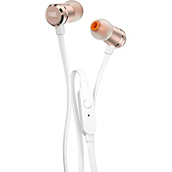 JBL T290 Pure Bass All Metal in-Ear Headphones with Mic (Rose Gold)