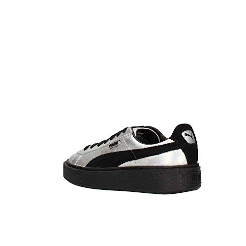 Puma Suede Platform, Sneakers Basses Femme Argent