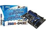 MSI Z68A-G43(G3) Mainboard Sockel 1155 (Intel Z68 (B3), DDR3 Speicher, 2x SATA III, 2x USB 3.0)