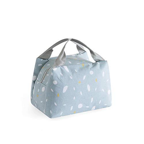 Isolierung Mittagessen-Haushalt-bewegliche Isolierung Tasche Kursteilnehmer mit Reis Dicker Aluminiumfolie Tragbare Leinwand-Mittagessen-Beutel dauerhaft (Color : Blue)