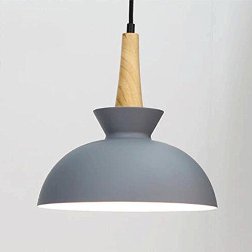 ZHAOJING Simple Restaurant Chandelier Combinación de Tres lámparas danesas Creative Lámparas de Madera Personalizadas Única lámpara de Techo de Aluminio Simple y Elegante E27 (Color : Gris)