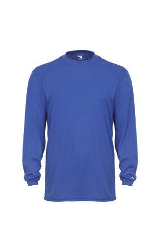 Badger Sportswear Men' s b-dry maglietta a manica lunga Royal