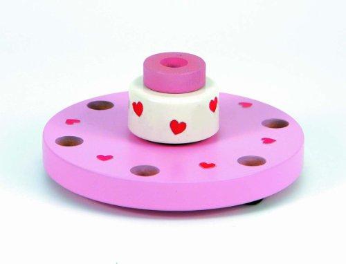 Niermann Standby 9019 - Happy-Spieluhr Maxi, D=17 cm, Happy Birthday Melodie, Spieluhr zum aufziehen, ohne Deko, kombinierbar mit allen Niermann Standby Ergänzungssets, rosa