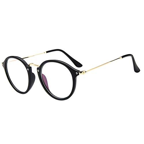 Deylaying Retro Kurz Entfernung Brillen Cat Eye Groß Runden Rahmen Kurzsichtigkeit Kurzsichtig Brille Blau Licht Filter Linsen (Stärke -5.0, Schwarz) (Diese sind nicht Lesen Brille)