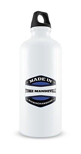 Made in Stoke Mandeville Bianco Borraccia in alluminio