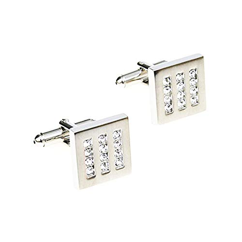 Dolove gemelli argento personalizzati gemelli camicia uomo gemelli uomo zirconi gemelli quadrati gemelli da polso
