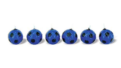 BUYLLOON HOME Candeline Inter Palloni Squadra Calcio Nero Blu per Festa Compleanno Decorazione Torta (Inter)