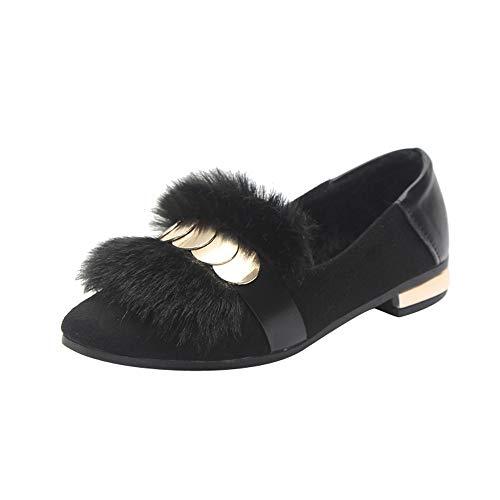 Dragon868 scarpe donna velluto elegante, stivali basse mocassini cerchio del metallo design scarpe basse cerimonia invernali