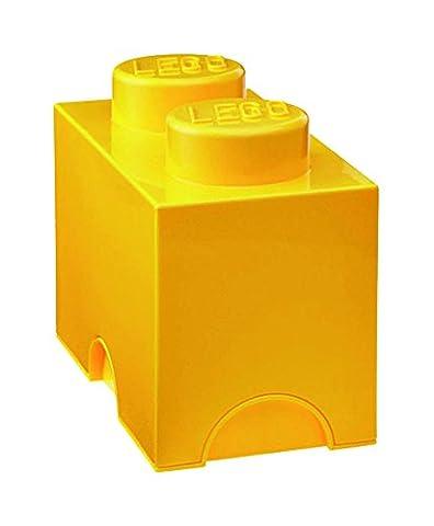 Room Copenhagen RC40021732 Lego Boîte de Rangement 2 Briques Plastique Jaune 45 x 35 x 25 cm