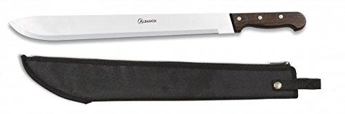 Cortacañas buschmesser ALBAINOX machete mit Abdeckung. Griff: Holz