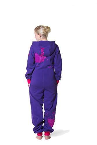 JUMPSTER Jumpsuit FIRST GENERATION Damen & Herren Overall, langer unisex Onesie mit Kapuze MADE IN EU Regular Fit Wild Berries