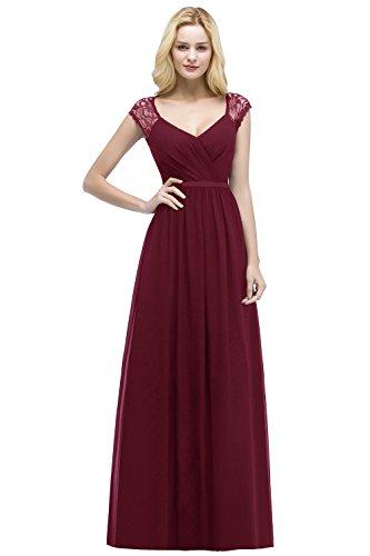 MisShow Damen elegant Herzausschnitt Chiffon Abendkleid Abiballkleid Brautmutterkleider Chiffon...