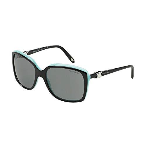 Tiffany & co. occhiali da sole da donna 4076/s - 80553f: nero su turchese
