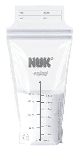 Nuk NK10252088 - Pack de 25 bolsas para leche materna