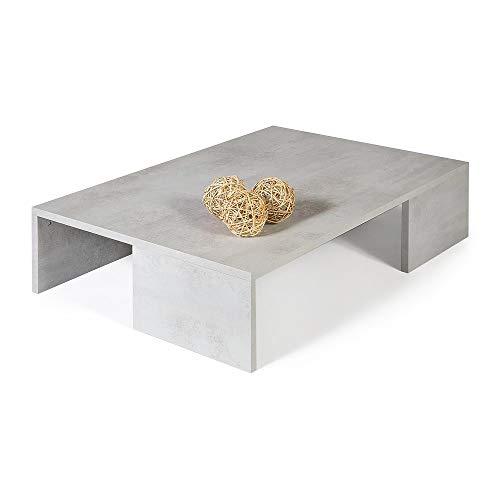 Mobili fiver rachele, tavolino da salotto, legno, cemento, 90x60x21 cm