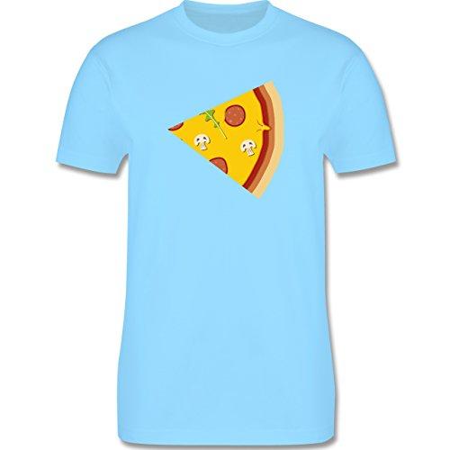 Shirtracer Partner-Look Pärchen Herren - Pizza Pärchenmotiv Teil 2 - Herren T-Shirt Rundhals Hellblau
