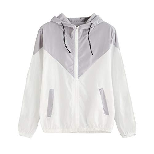 Uomogo felpe con cappuccio donna collo alto sweatshirt maniche lunghe felpa tumblr ragazza invernali casual hoodies maglietta giacca cappotti tops tinta unita