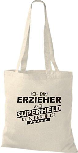 Shirtstown Sac en tissu Ich bin éducateurs, parce que Superheld aucun Occupation est Nature