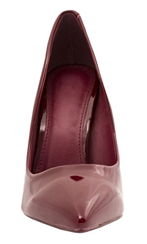Elara Spitze Damen Pumps | Bequeme Lack Stilettos | Elegante High Heels Bordorot Pearl