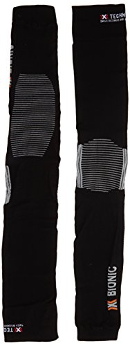 X-Bionic Erwachsene Funktionsbekleidung Biking OW Leg Warmer Light DX SX No Seam, Black/Pearl Grey, L/XL, O020594