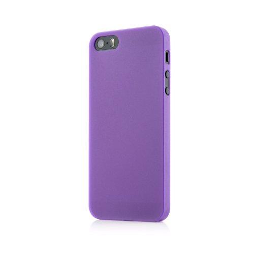 Original QUADOCTA® Tenuis Case für das iPhone SE / 5s / 5 in schwarz aus Polypropylen ULTRA SLIM 0,35mm Lila