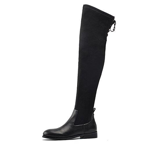 Go Go Stiefel Für Verkauf - DONNAIN Damen-Stiefel aus Mikrofaser über dem