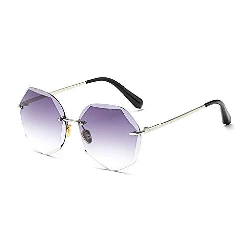 MWPO Sonnenbrillen Fashion Frameless Sonnenbrillen UV400 Gradient Lens Polarized Glasses (Farbe: SCHWARZ)