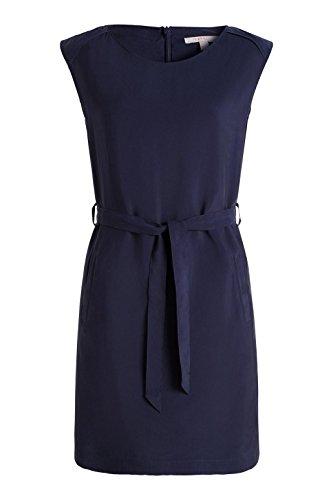 Esprit 036EE1E001 - Robe - Manches courtes - Femme Bleu (NAVY 400)
