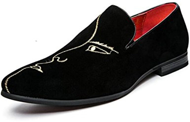 NBWE Männer Spitzen Bestickte Schuhe Loafers Britischen Stil Freizeitschuhe