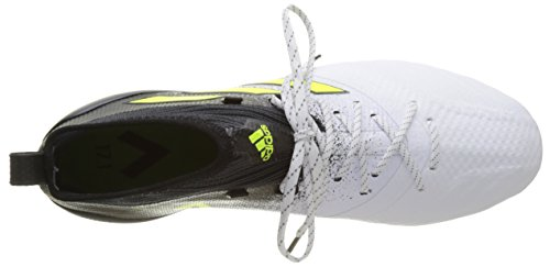 adidas Herren Ace 17.1 AG Fußballschuhe Weiß (Footwear White/Solar Yellow/Core Black)