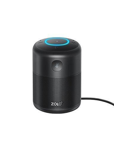 Halo Bluetooth (ZOLO Halo Smart Speaker mit Alexa Sprachsteuerung und Kraftvollem Klang, Amazon Music Unlimited Stream, TuneIn, Radio Player und Audio Bücher, Smart Home Gerätekontrolle, Zeiteinstellung - Bluetooth, AUX und WLAN (18 Monate Garantie, schwarz))