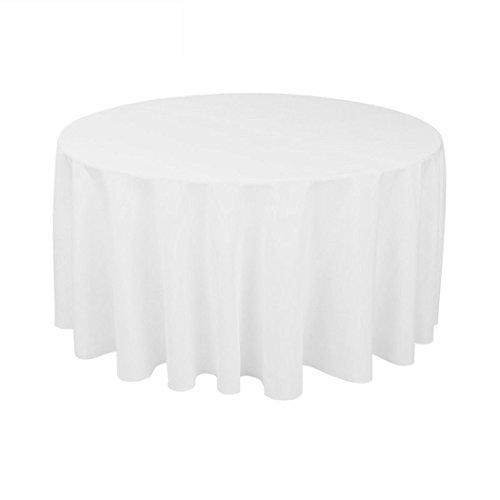 gfcc 100% Polyester Rund Tischdecke, Polyester, für Hochzeit, Halloween, Weihnachten, Party und Bankett (122cm, - Runde Halloween-tischdecke