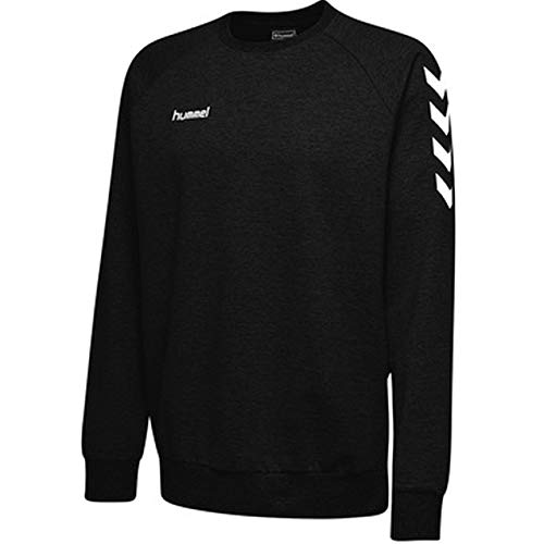 hummel Kinder HMLGO Cotton Sweatshirt, Schwarz, 116 20% Polyester Sweatshirt